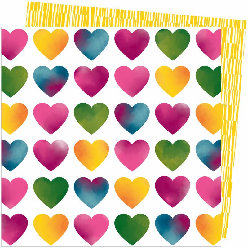American Crafts - Amy Tangerine - Slice of Life 12x12 Paper - Love Always
