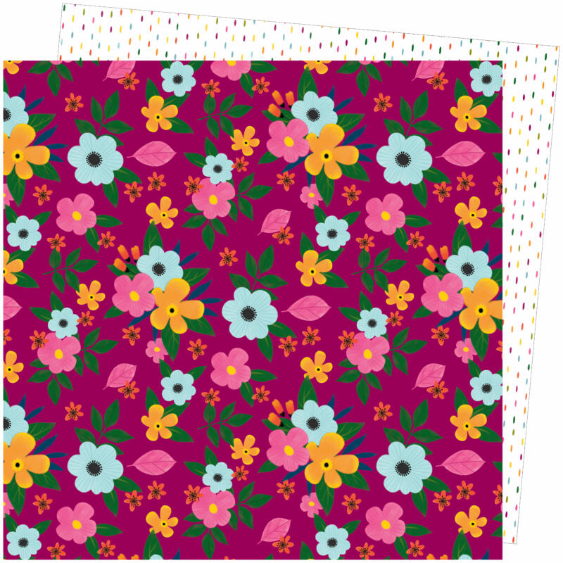 American Crafts - Amy Tangerine - Slice of Life 12x12 Paper - Flower Power
