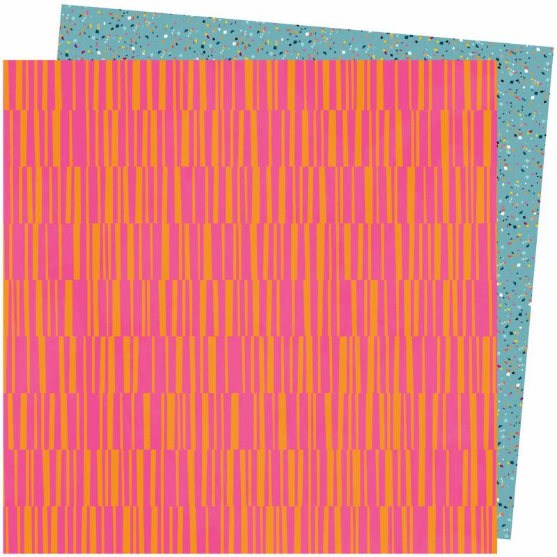 American Crafts - Amy Tangerine - Slice of Life 12x12 Paper - Pink Lemonade
