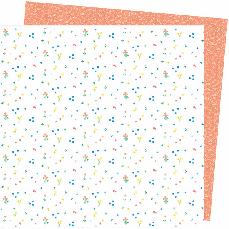 American Crafts - Amy Tangerine - Picnic in the Park 12x12 Paper - Dainty Dots