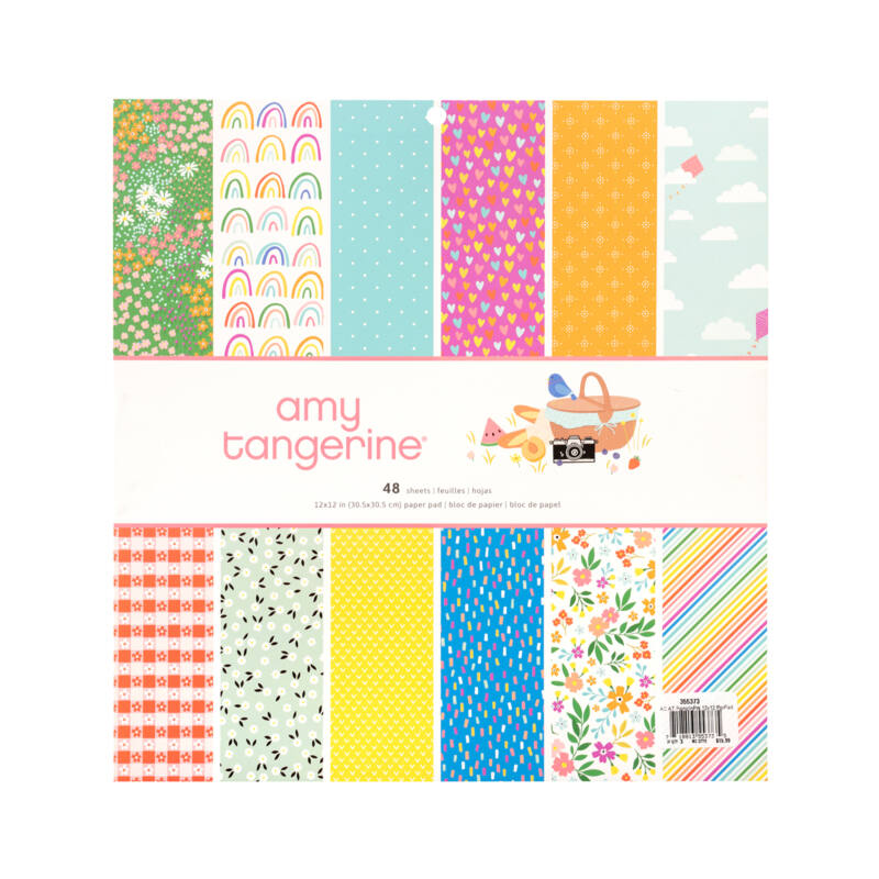 American Crafts - Amy Tangerine - Picnic in the Park 12x12 Paper Pad (48 Sheets)