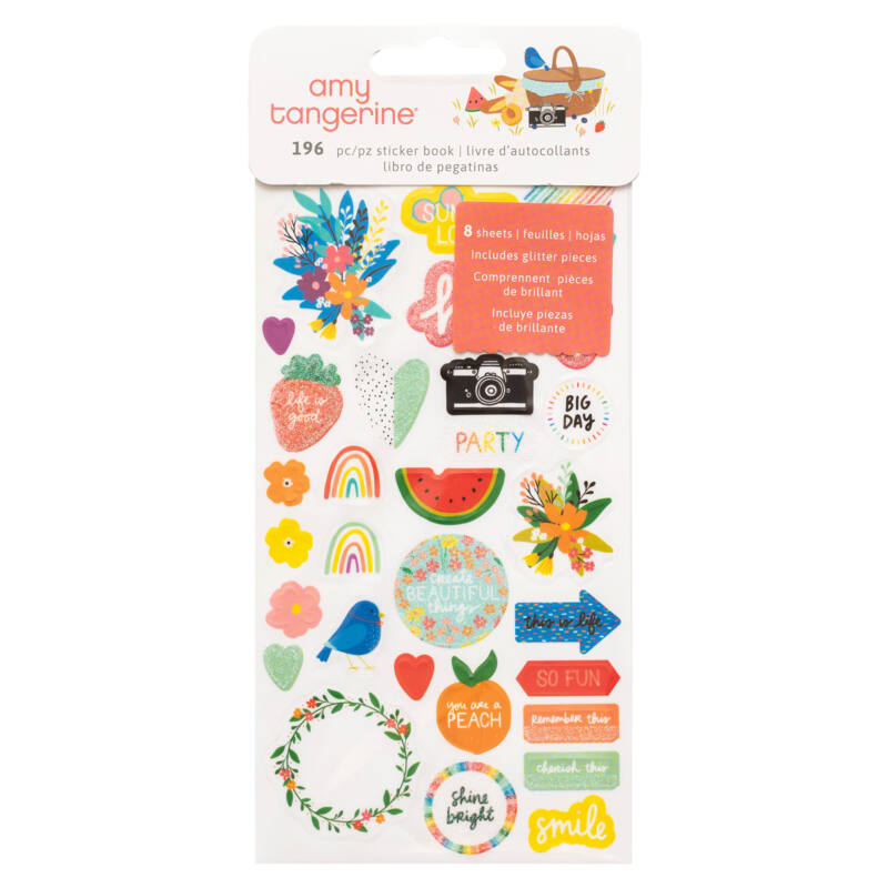 American Crafts - Amy Tangerine - Picnic in the Park Sticker Book (195 Piece)