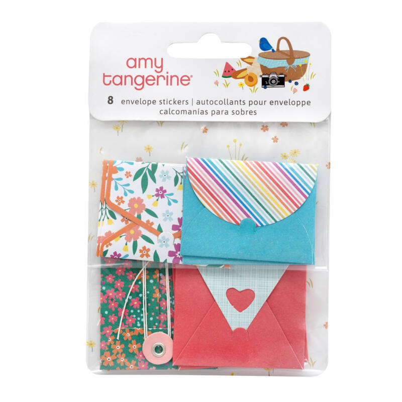 American Crafts - Amy Tangerine - Picnic in the Park Envelope Stickers (8 Piece)