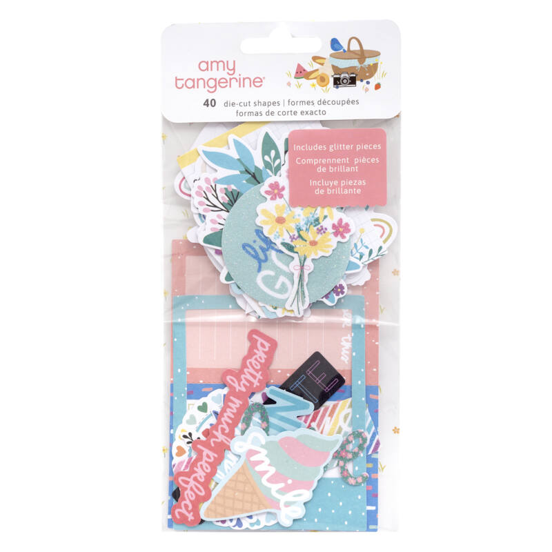 American Crafts - Amy Tangerine - Picnic in the Park Ephemera (40 Piece)