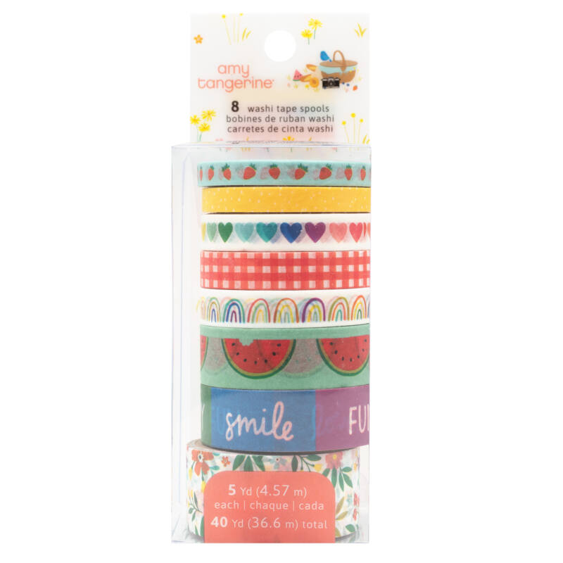 American Crafts - Amy Tangerine - Picnic in the Park Washi Tape (8 Piece)