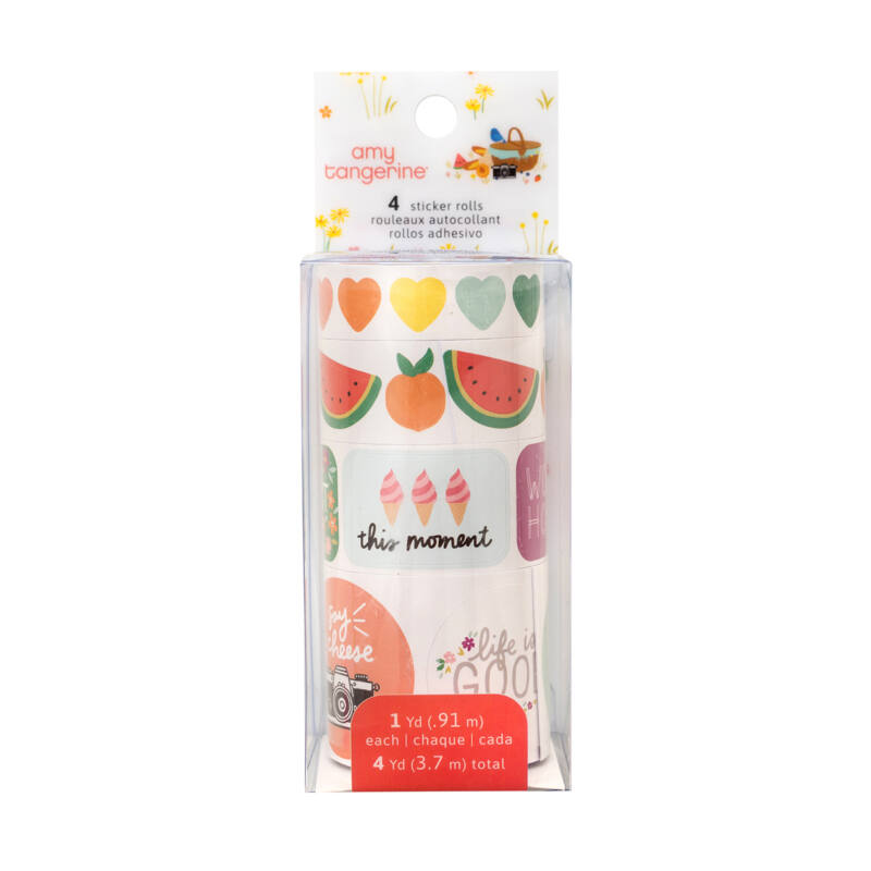 American Crafts - Amy Tangerine - Picnic in the Park Sticker Rolls (4 Piece)