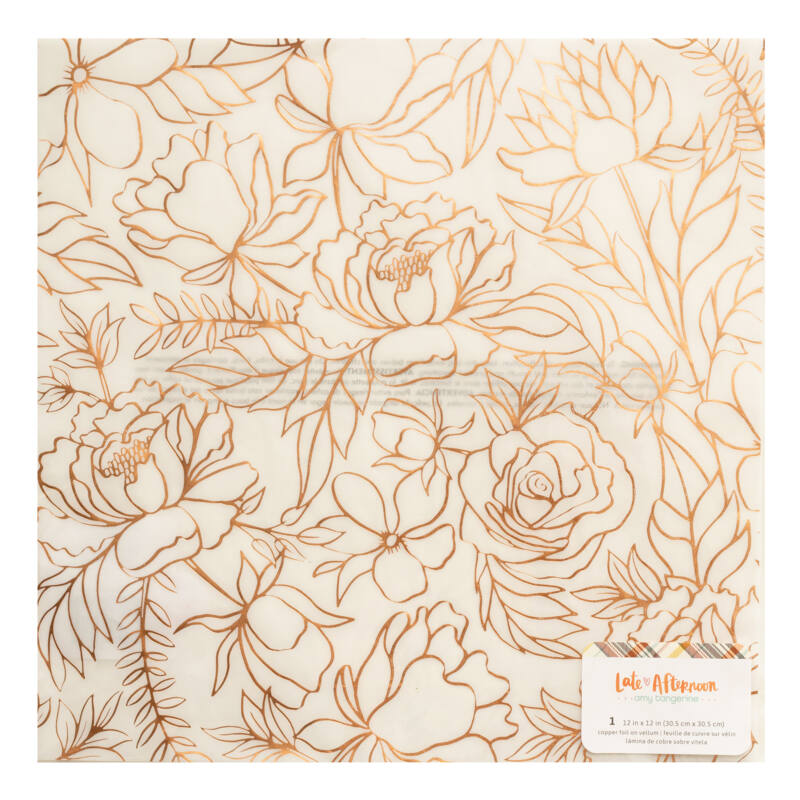American Crafts - Amy Tangerine - Late Afternoon 12x12 Specialty Vellum Paper