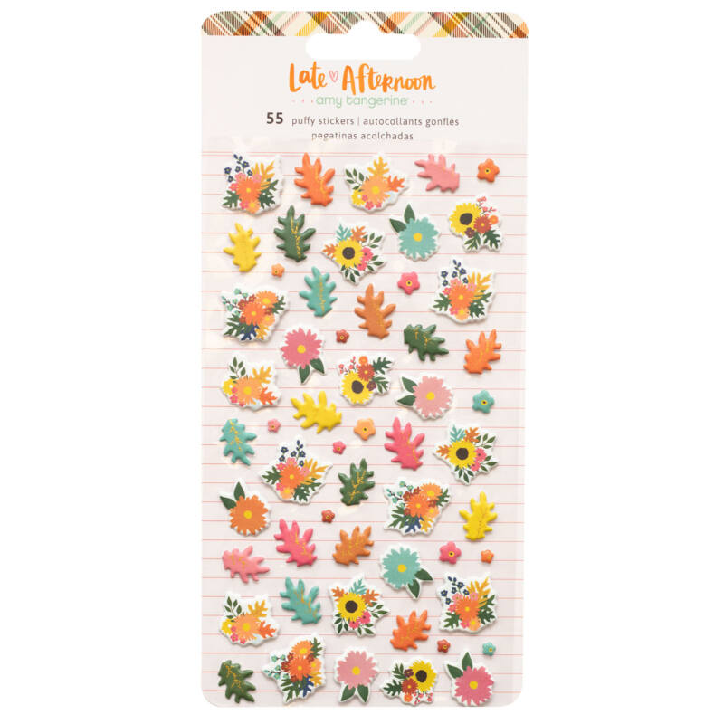 American Crafts - Amy Tangerine - Late Afternoon Mini Puffy Stickers (55 Piece)
