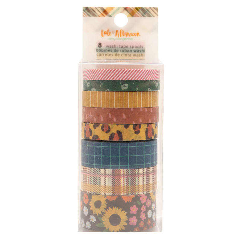 American Crafts - Amy Tangerine - Late Afternoon Washi Tape Set (8 Piece)