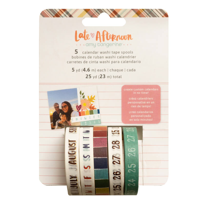 American Crafts - Amy Tangerine - Late Afternoon planner washi szett (5 db)
