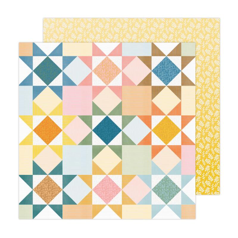 American Crafts - Paige Evans - Bungalow Lane 12x12 Paper 8