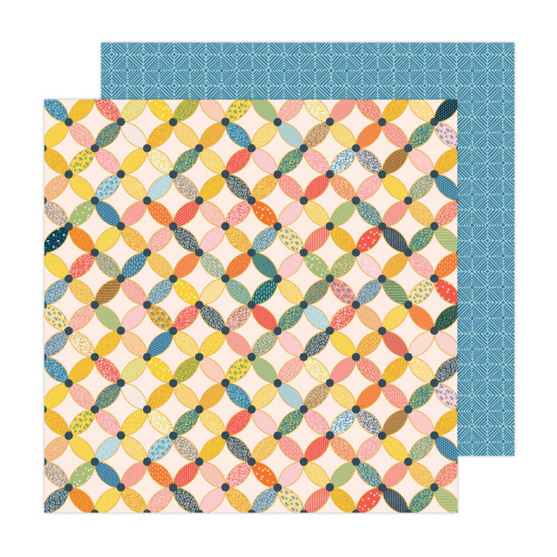 American Crafts - Paige Evans - Bungalow Lane 12x12 Paper 12