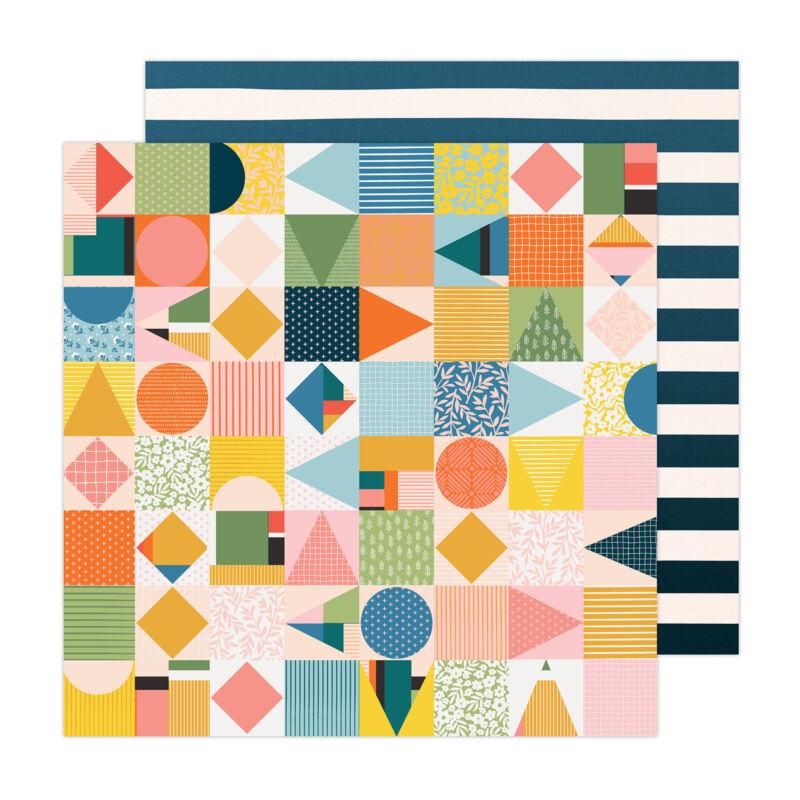 American Crafts - Paige Evans - Bungalow Lane 12x12 Paper 13
