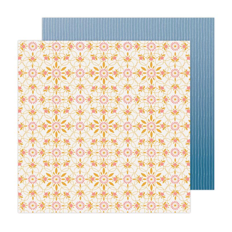 American Crafts - Paige Evans - Bungalow Lane 12x12 Paper 17