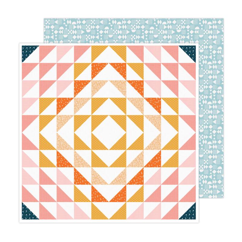 American Crafts - Paige Evans - Bungalow Lane 12x12 Paper 18