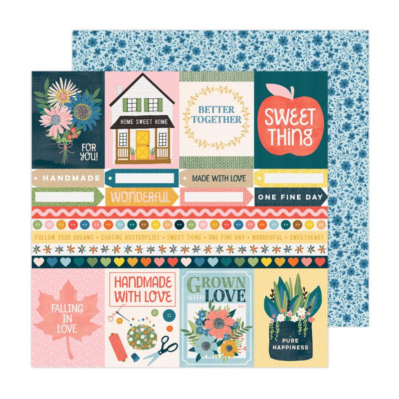 American Crafts - Paige Evans - Bungalow Lane 12x12 Paper 23