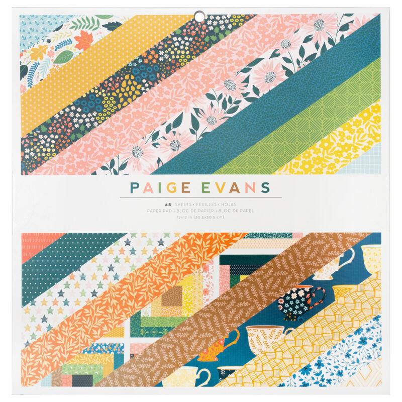 American Crafts - Paige Evans - Bungalow Lane 12x12 Paper Pad (48 Sheets)