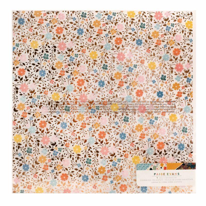 American Crafts - Paige Evans - Bungalow Lane 12x12 Specialty Acetate Paper
