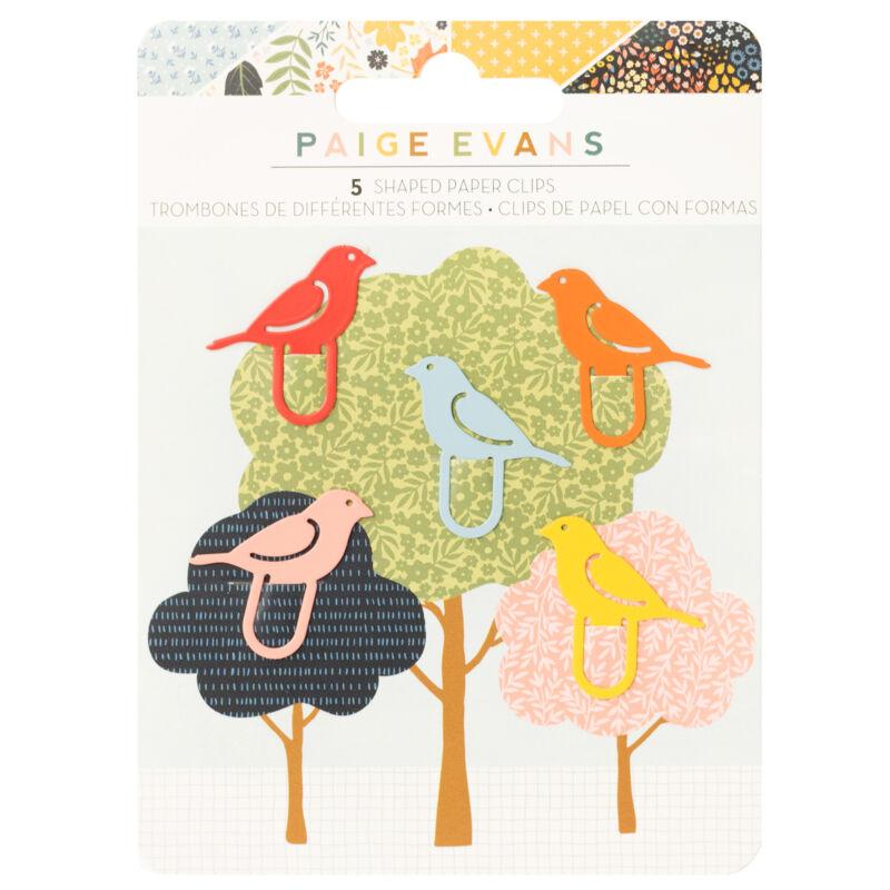 American Crafts - Paige Evans - Bungalow Lane Bird Shaped Metal Paper Clips  (5 Piece)