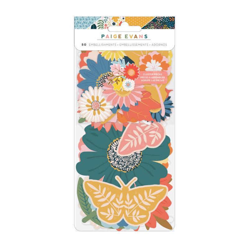 American Crafts - Paige Evans - Bungalow Lane Floral Ephemera (50 Piece)