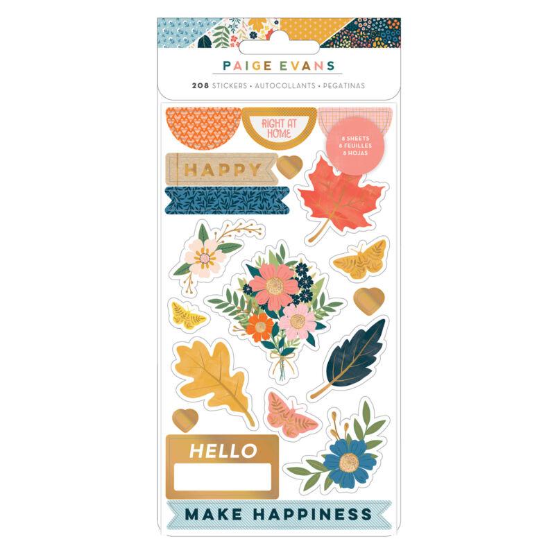 American Crafts - Paige Evans - Bungalow Lane Sticker Book (8 Sheets) (308 Piece)