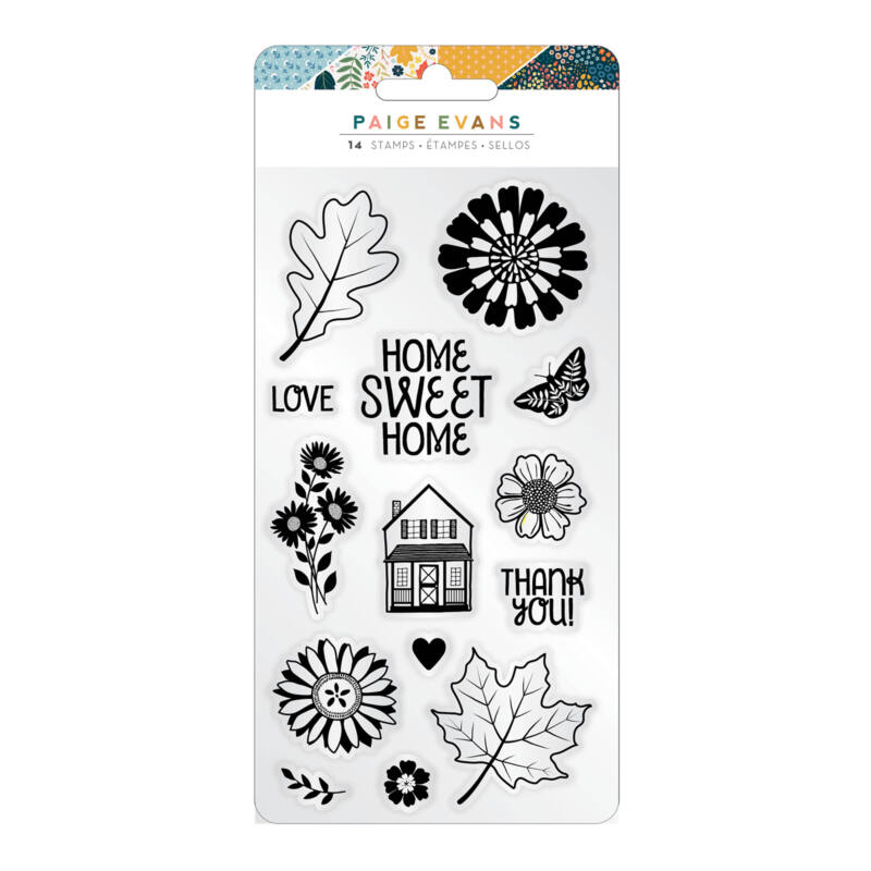 American Crafts - Paige Evans - Bungalow Lane Acrylic Stamps (14 Piece)