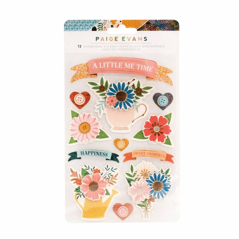 American Crafts - Paige Evans - Bungalow Lane Banners Layered Stickers (12 Piece)