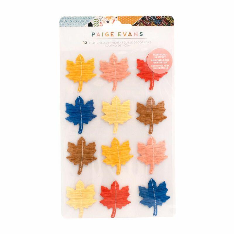 American Crafts - Paige Evans - Bungalow Lane Leaf Embellishment (12 Piece)