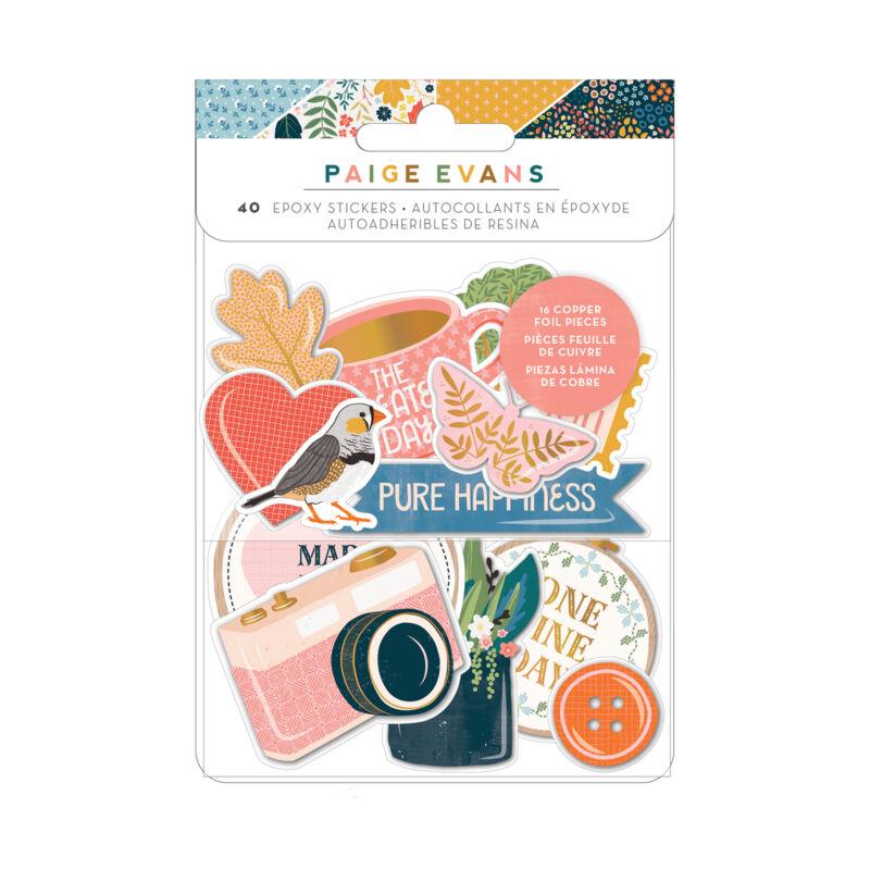 American Crafts - Paige Evans - Bungalow Lane Epoxy Sticker (40 Piece)
