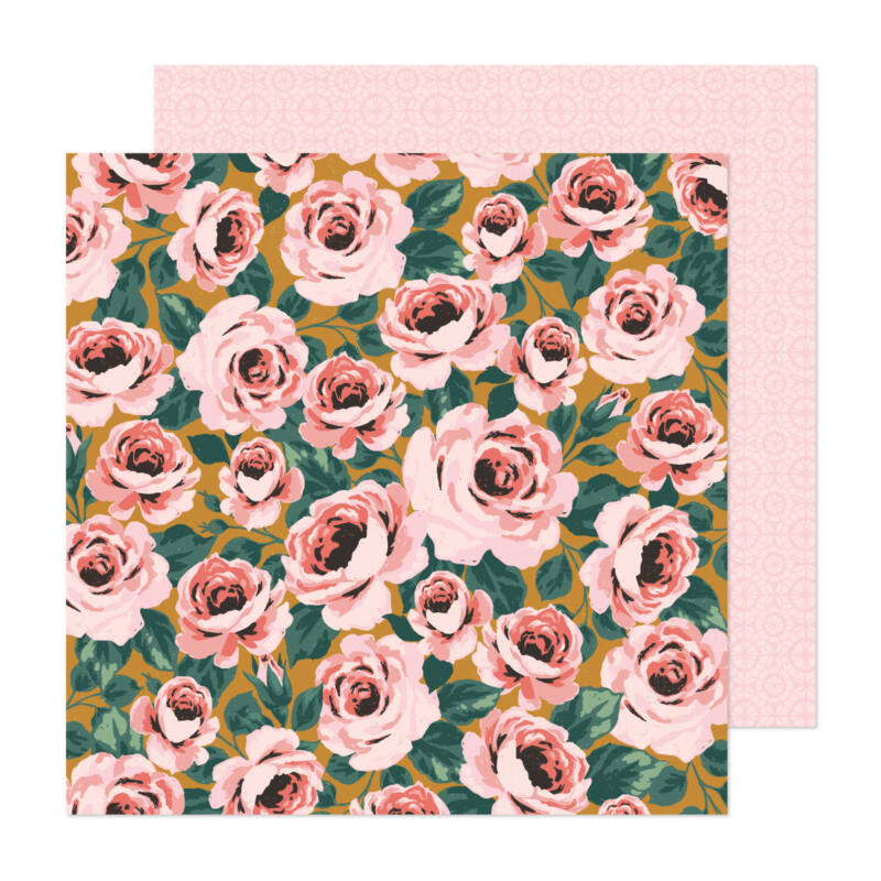American Crafts - Maggie Holmes - Market Square 12x12 Paper - Full Bloom