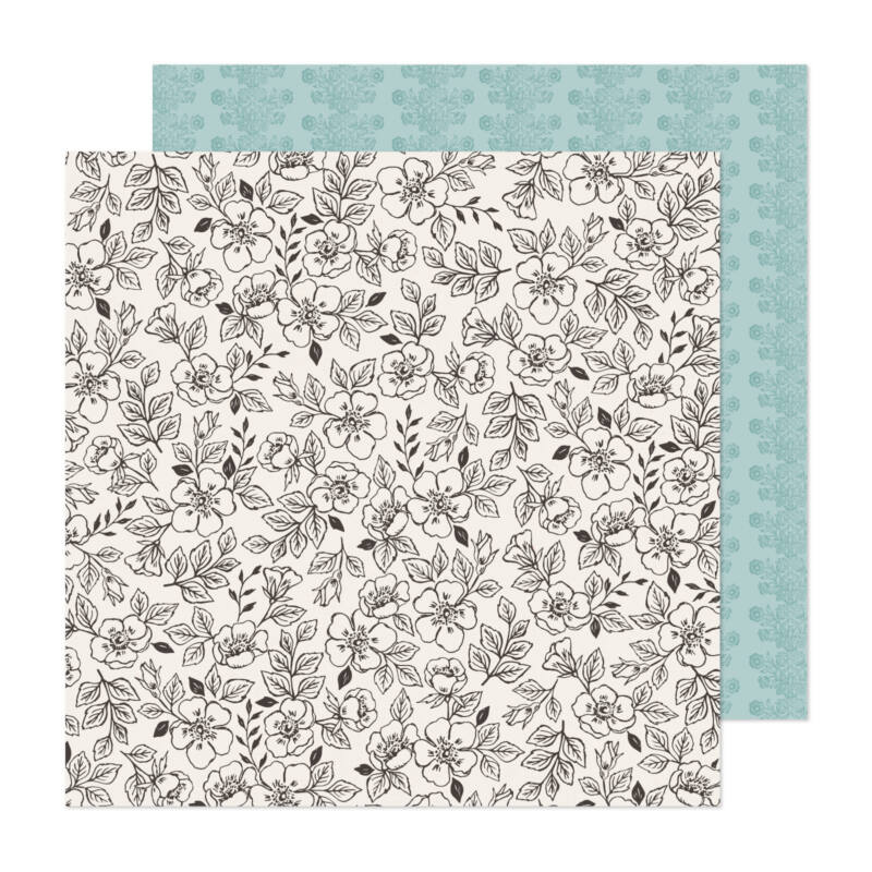 American Crafts - Maggie Holmes - Market Square 12x12 Paper - Blooming