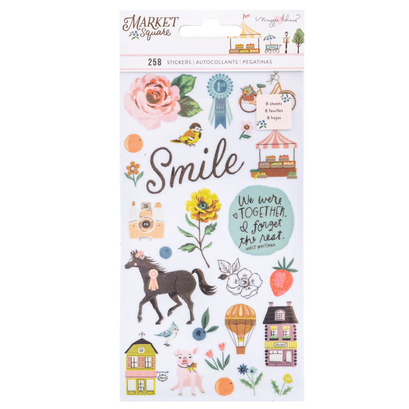 American Crafts - Maggie Holmes - Market Square Sticker Book (8 Sheets)