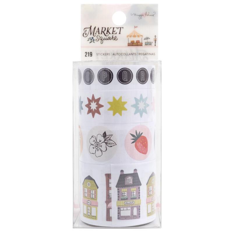 American Crafts - Maggie Holmes - Market Square Sticker Rolls (218 Piece)