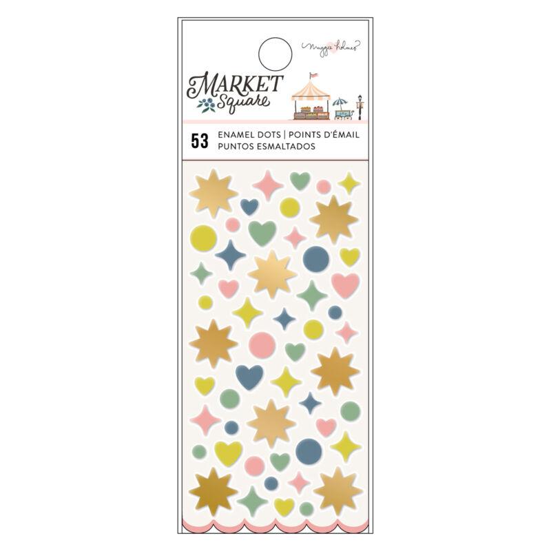American Crafts - Maggie Holmes - Market Square Enamel Dots (53 Piece)