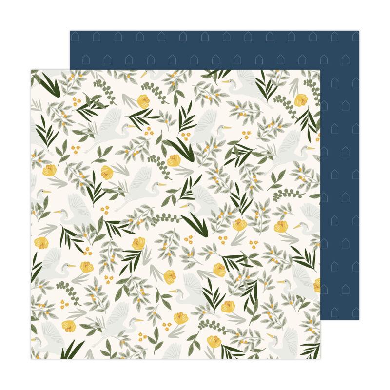 American Crafts - Jen Hadfield - Peaceful Heart 12x12 Paper - Peace