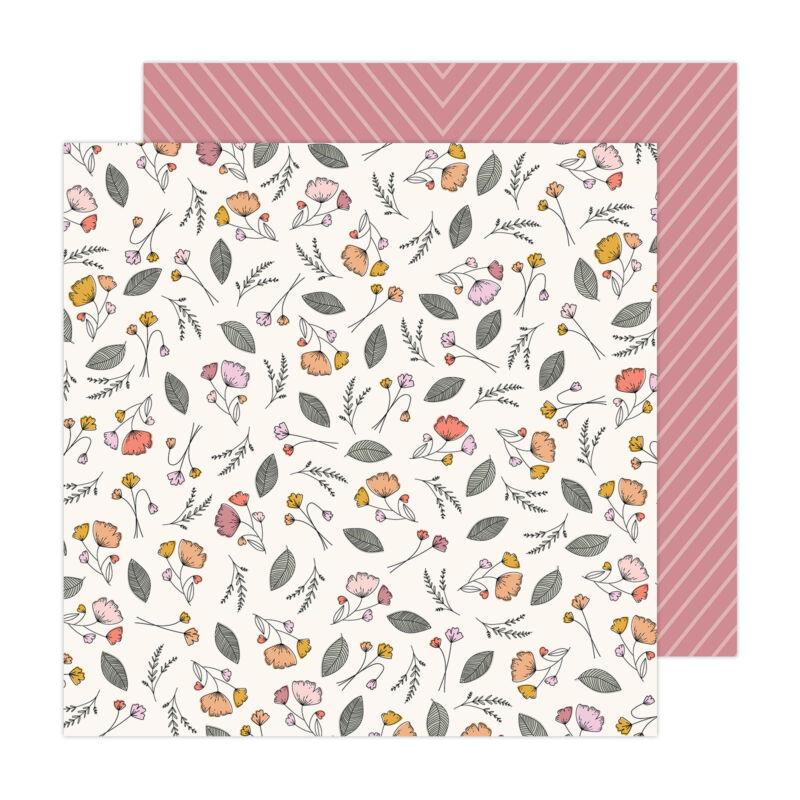 American Crafts - Jen Hadfield - Peaceful Heart 12x12 Paper - Let Go