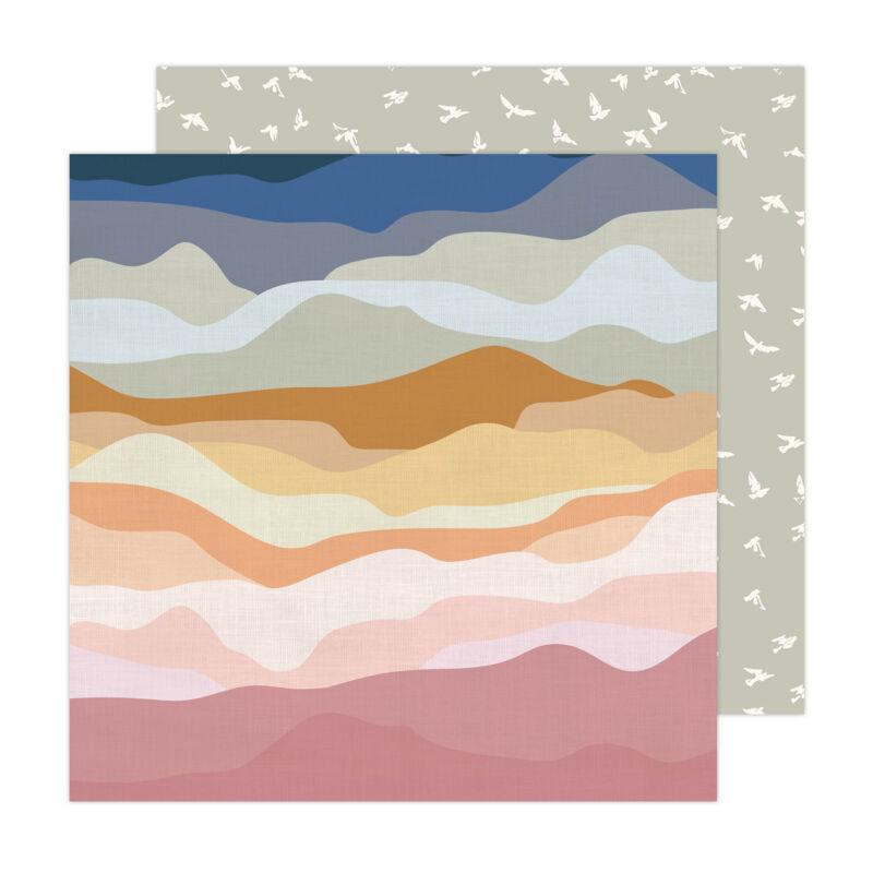 American Crafts - Jen Hadfield - Peaceful Heart 12x12 Paper - Vistas