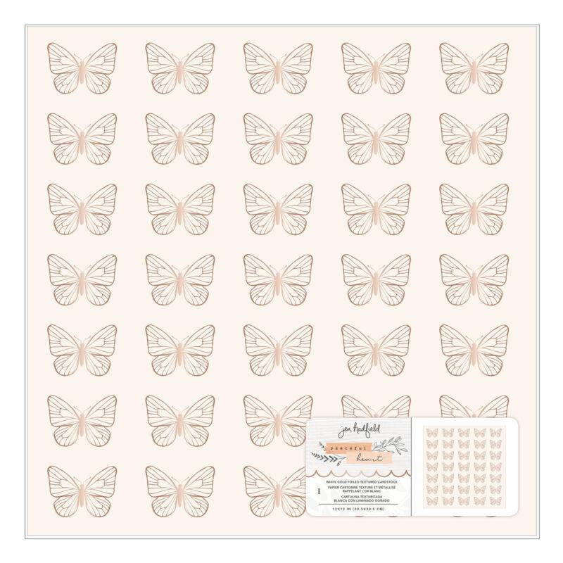 American Crafts - Jen Hadfield - Peaceful Heart 12x12 Specialty Paper