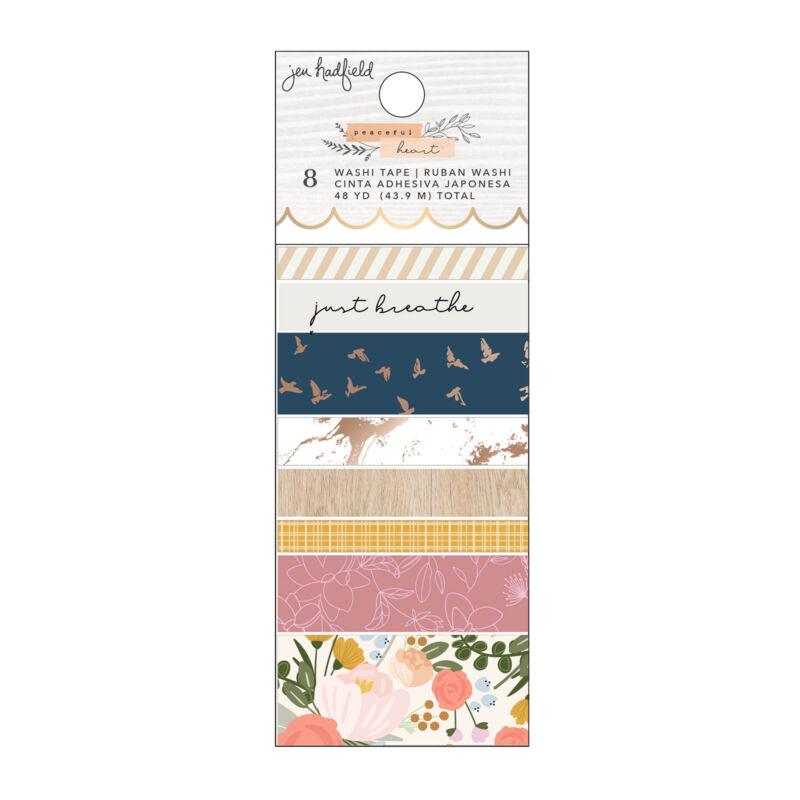 American Crafts - Jen Hadfield - Peaceful Heart Washi Tape (8 Piece)