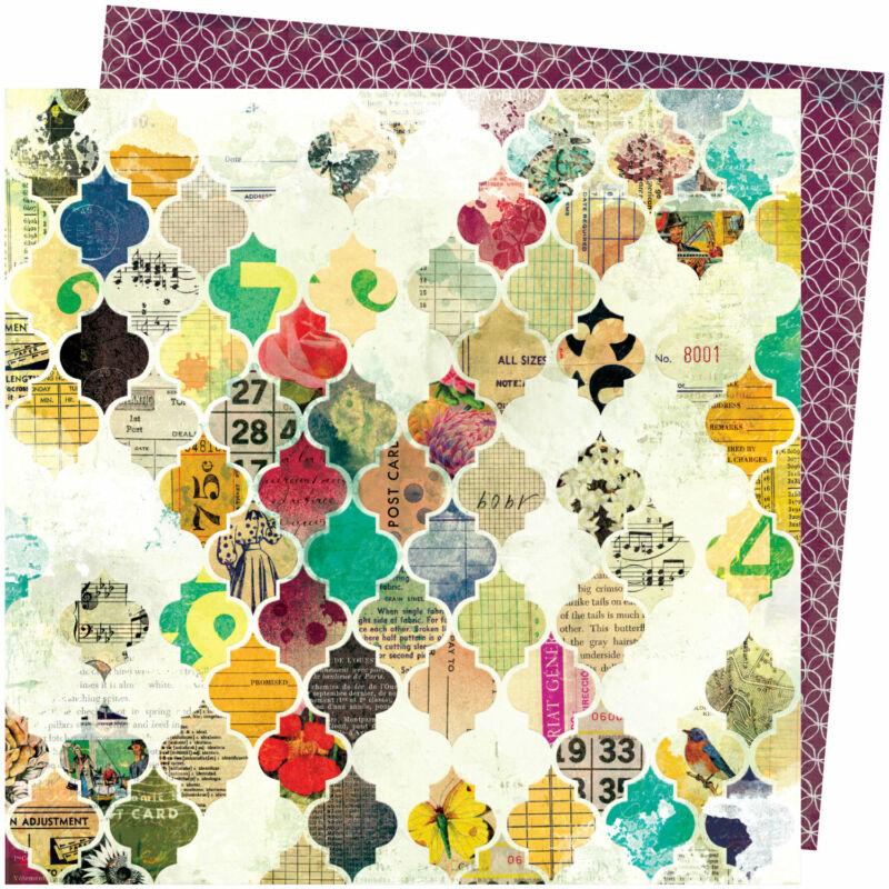 American Crafts - Vicki Boutin - Storyteller 12x12 Paper - Mosaic
