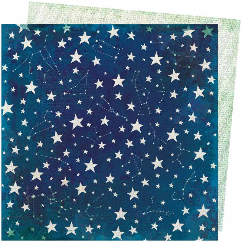 American Crafts - Vicki Boutin - Storyteller 12x12 Paper - Stardust