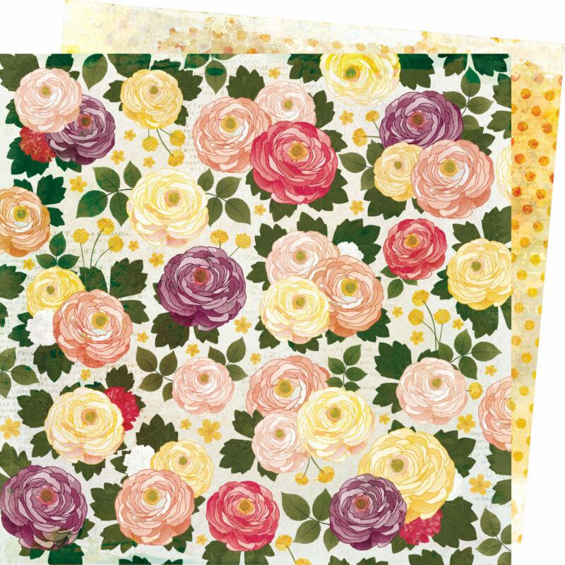 American Crafts - Vicki Boutin - Storyteller 12x12 Paper - Fresh Cut