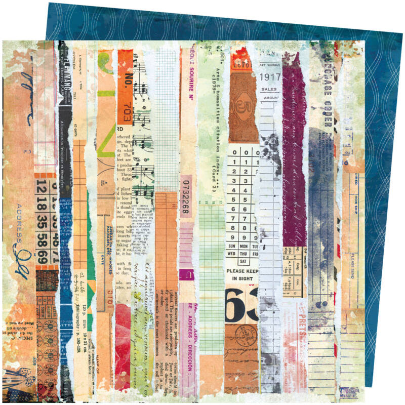 American Crafts - Vicki Boutin - Storyteller 12x12 Paper - Vagabond
