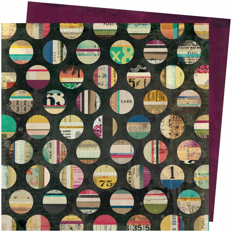 American Crafts - Vicki Boutin - Storyteller 12x12 Paper - Assemblage