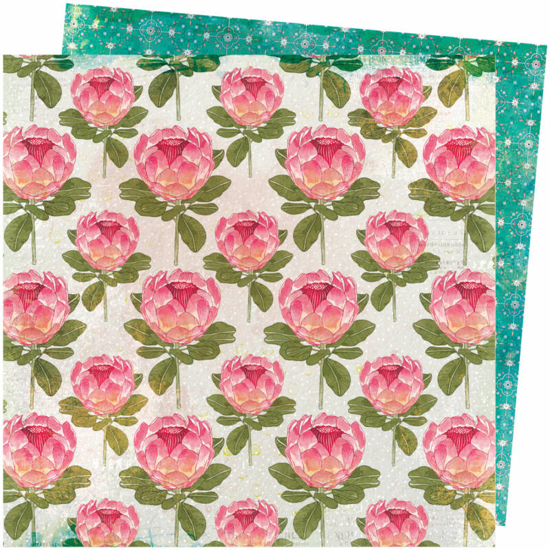 American Crafts - Vicki Boutin - Storyteller 12x12 Paper - Flourish