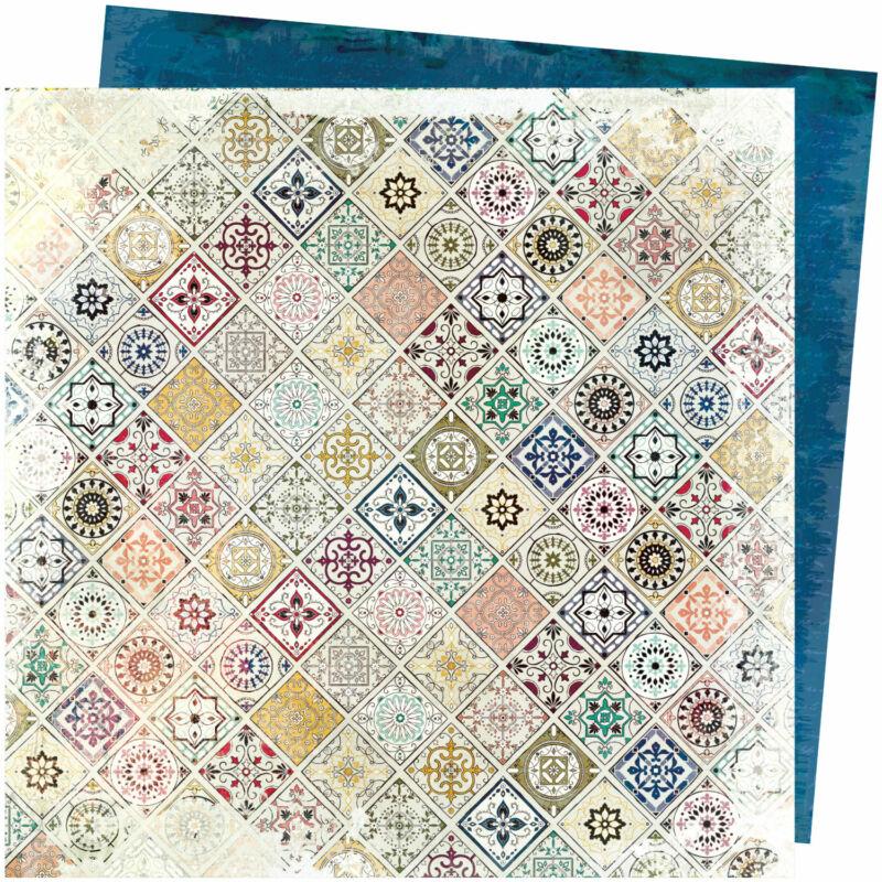 American Crafts - Vicki Boutin - Storyteller 12x12 Paper - Patchwork