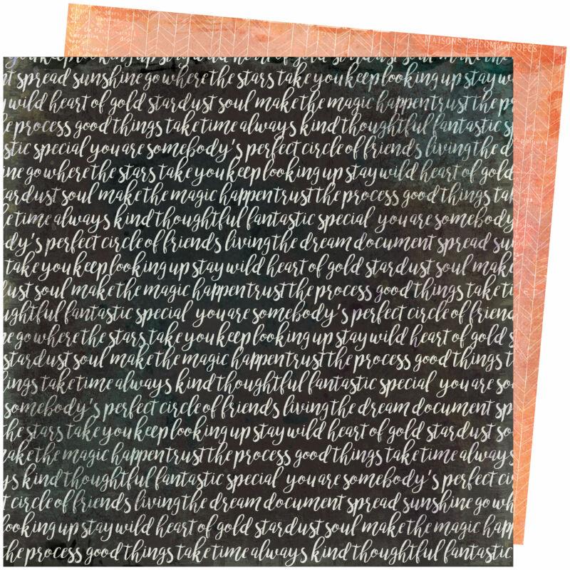 American Crafts - Vicki Boutin - Storyteller 12x12 Paper - Memoir