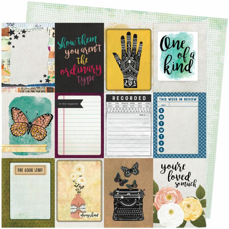 American Crafts - Vicki Boutin - Storyteller 12x12 Paper - Storyteller