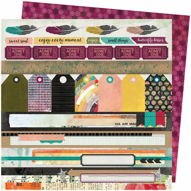 American Crafts - Vicki Boutin - Storyteller 12x12 Paper - Plot