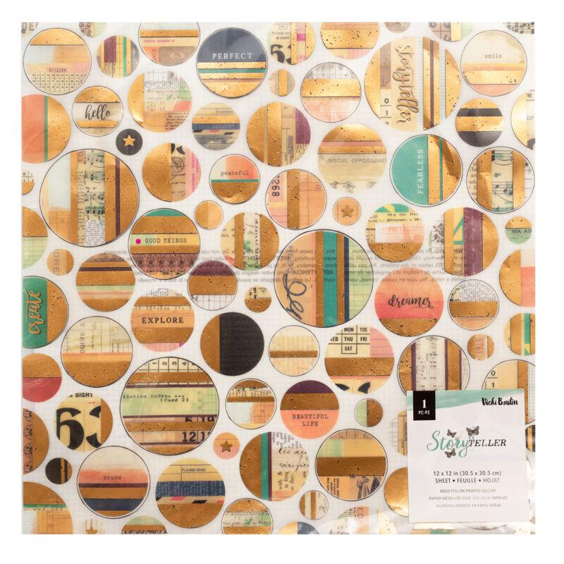 American Crafts - Vicki Boutin - Storyteller 12x12 Vellum Specialty Paper